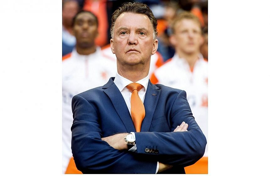 Dutch national football team coach Louis van Gaal stands during the friendly football match between the Netherlands and Ecuador in Amsterdam, on May 17, 2014 in Amsterdam. Van Gaal has been named as Manchester United's new manager with Ryan Giggs con