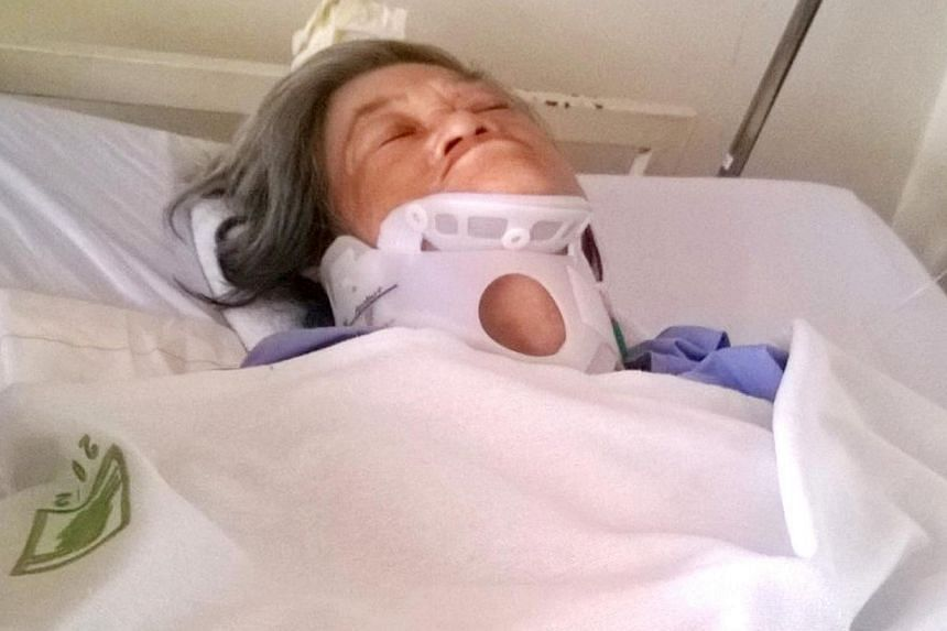 Madam Mahani Abdullah, 67, will be going for surgery today to help her regain the use of her limbs.