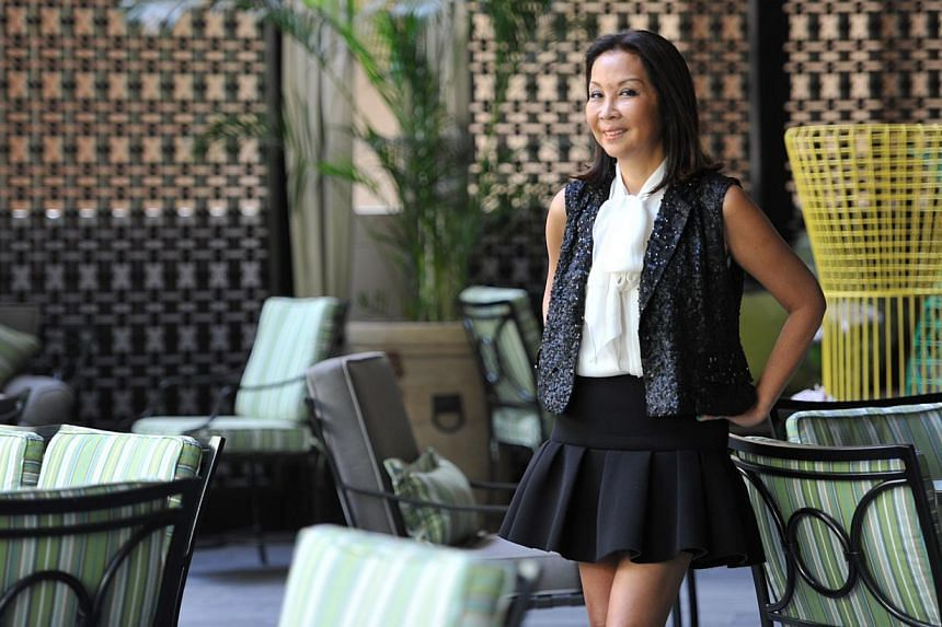 Singapore-born, KL-based designer-entrepreneur Farah Khan has weathered personal and business setbacks to get to where she is. -- ST PHOTO: MATTHIAS HO