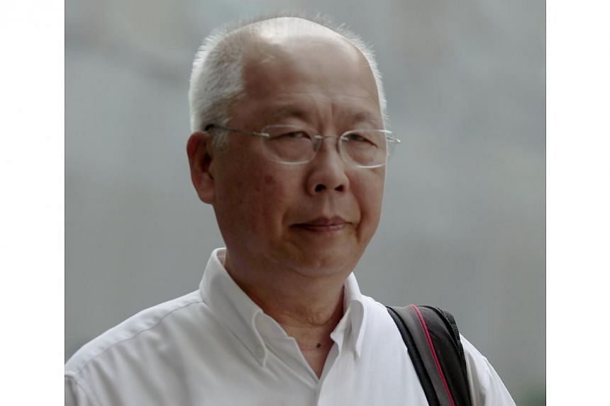 Anthony Tan Kim Hock, former principal of Maris Stella at the Subordinate Court on June 14, 2013. Convicted former Maris Stella High principal Anthony Tan Kim Hock was back in court on Monday to plead guilty new criminal breach of trust charges relat