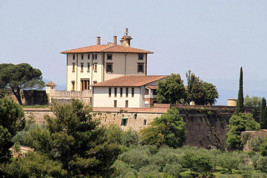 The Forte Belvedere where Kanye West and Kim Kardashian are expected to organise their wedding party on May 24, 2014. -- PHOTO: AFP