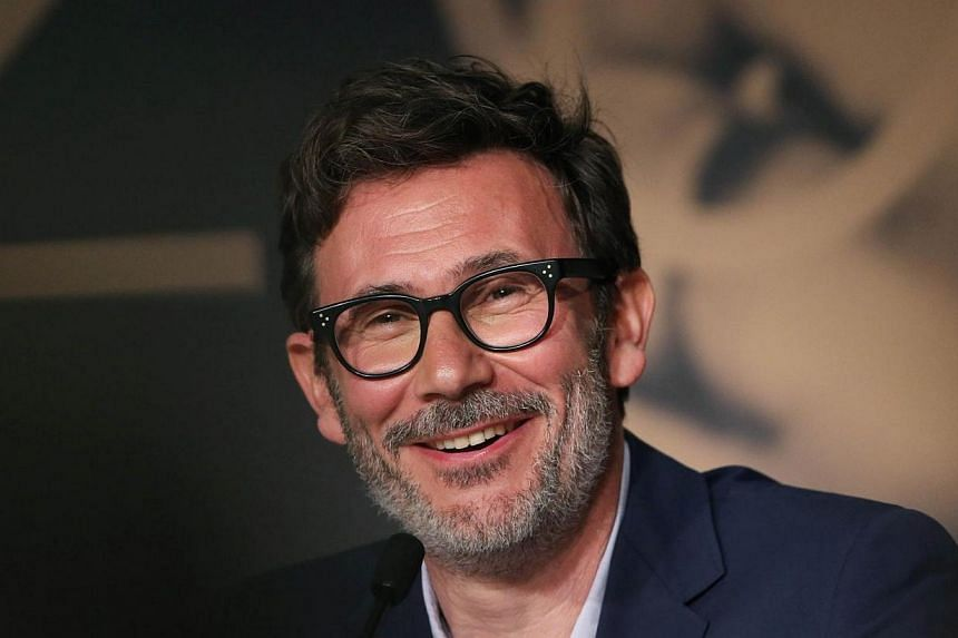 French director Michel Hazanavicius smiles during a press conference for the film The Search at the 67th edition of the Cannes Film Festival in Cannes, southern France on May 21, 2014. Hazanavicius followed up his Oscar winner The Artist with a