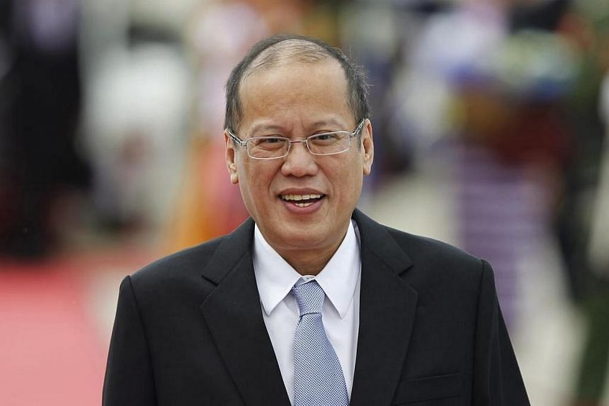 """President Benigno Aquino of the Philippines arrives at Naypyitaw international airport to attend the 24th ASEAN Summit on May 10, 2014.The Philippines is no longer the """"sick man of Asia"""", as it is now a """"viable destination for investments and t"""