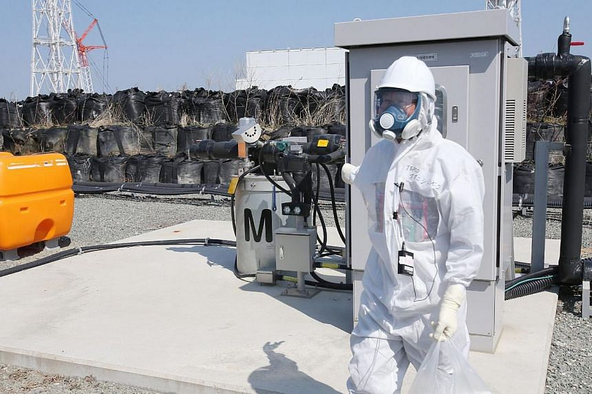 This picture taken on April 9, 2014 shows a facility to pump up underground water at the Tokyo Electric Power CO (TEPCO) Fukushima Dai-ichi nuclear power plant at Okuma town in Fukushima prefecture. -- PHOTO: AFP