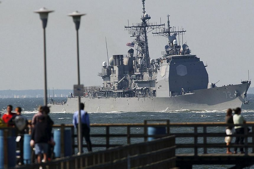 The Vella Gulf will arrive in the Black Sea after the recent departure of the frigate USS Taylor, which left the area on May 12. -- FILE PHOTO: REUTERS