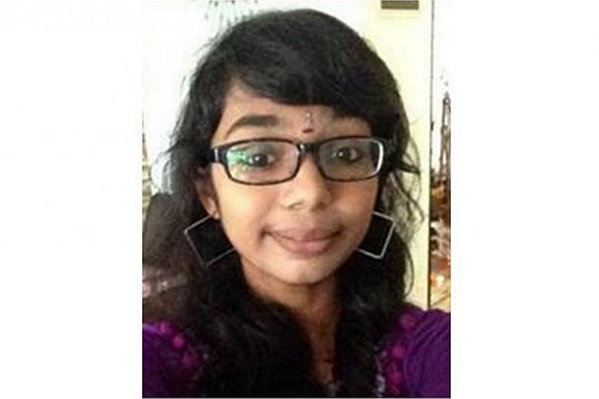 Police are appealing for information on the whereabouts of 17-year-old Harvini Renugah. -- PHOTO: SINGAPORE POLICE FORCE