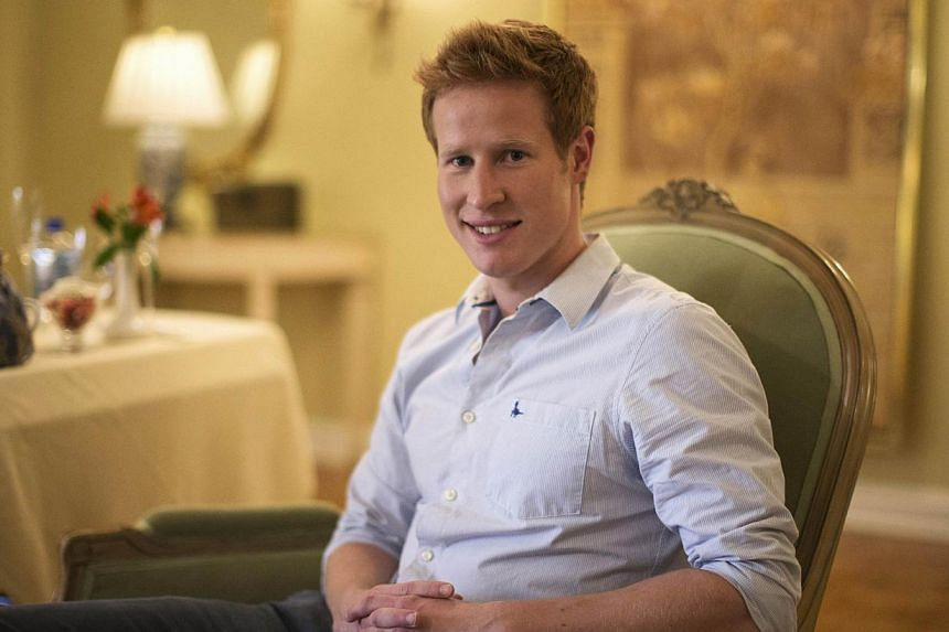 """Television personality Matt Hicks poses for a portrait while promoting the upcoming reality television series """"I Wanna Marry Harry"""" . -- PHOTO: REUTERS"""