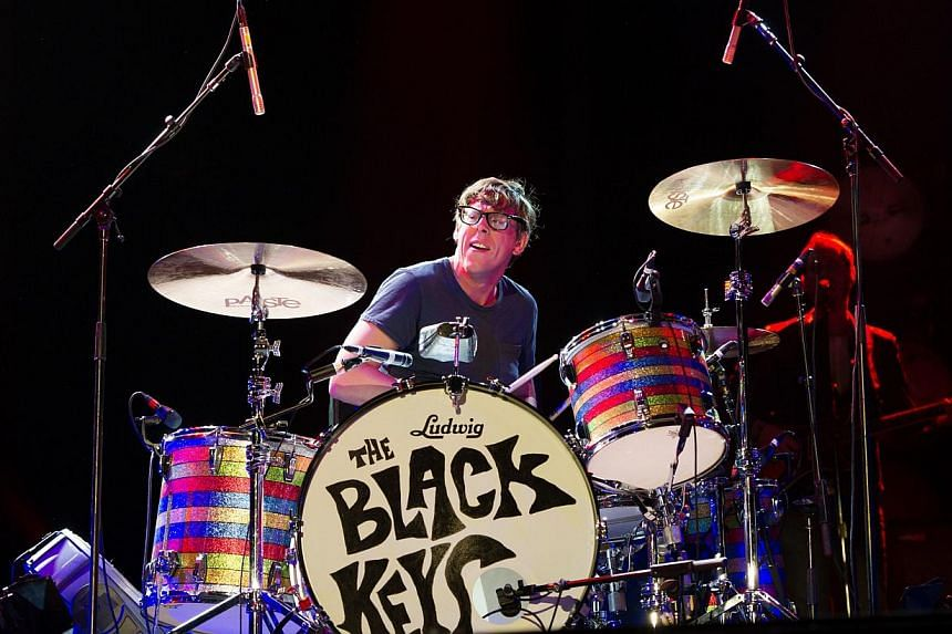 A picture taken on Aug 25, 2012 in Saint-Cloud, near Paris, shows US drumer Patrick Carney of The Black Keys of The Black Keys performing during the Rock-en-Seine music festival. Grammy-winning rockers the Black Keys debuted at the top of the Bi