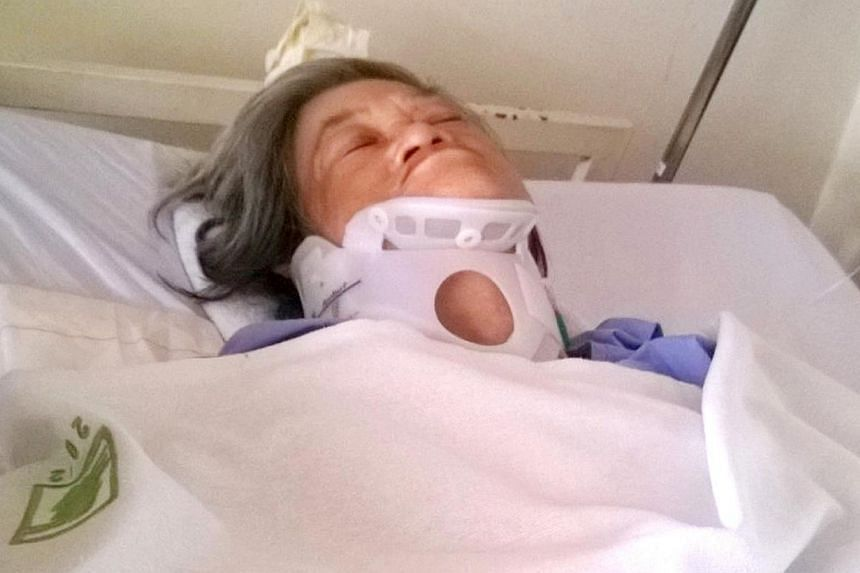 Madam Mahani Abdullah was walking below Block 1 Eunos Crescent when a bicycle tyre hit her on the head. -- FILE PHOTO: ST FILE