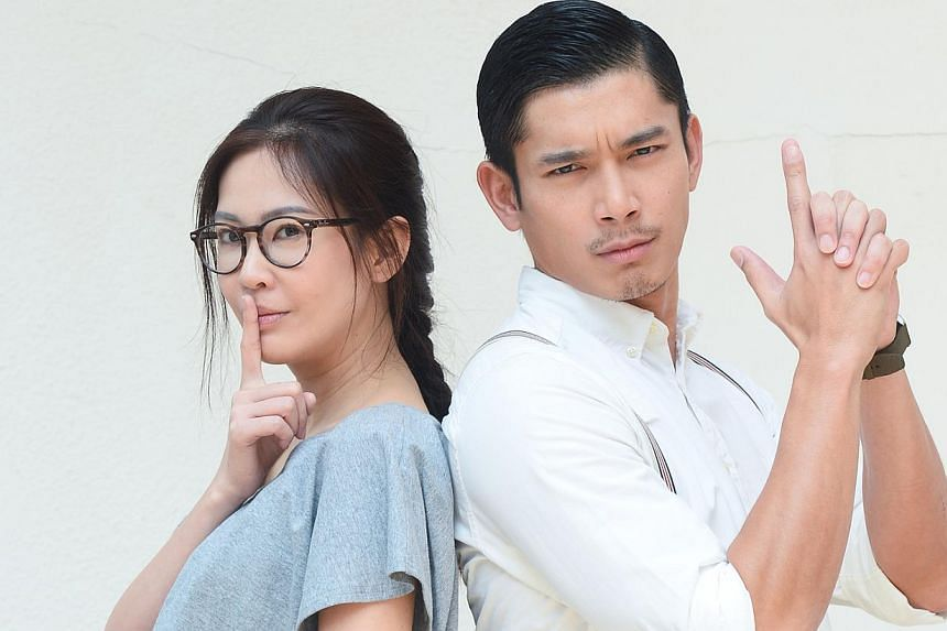 Actress Jesseca Liu (left) on facing a steep learning curve while writing the script for her Channel U miniseries Who Killed The Lead?, in which she co-stars with Elvin Ng (right). -- PHOTO: MEDIACORP