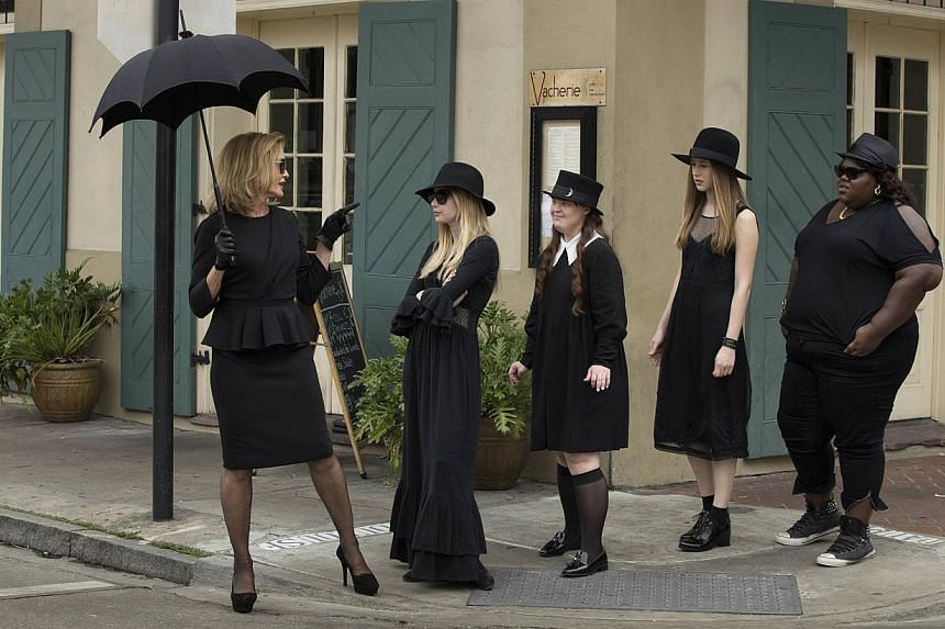 Jessica Lange (above, left) heads a training school for witches in American Horror Story: Coven, while Kiefer Sutherland returns as super agent Jack Bauer in 24: Live Another Day. -- PHOTO: FX