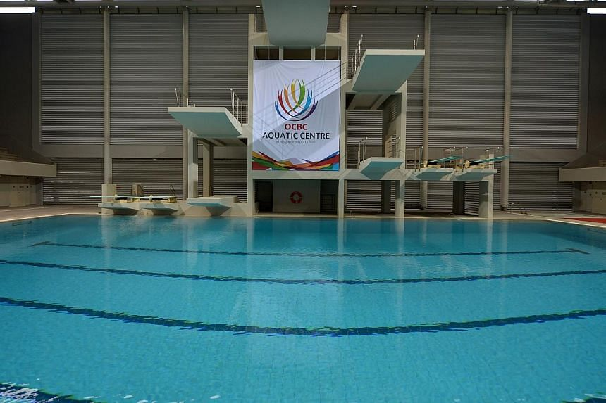 The South-east Asian Swimming Championships will be the first international competition to be held at the new, state-of-the-art OCBC Aquatic Centre from June 14-26. -- ST PHOTO: KUA CHEE SIONG