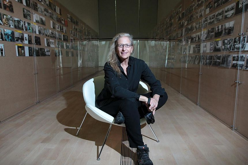 "Veteran photographer Annie Leibovitz is in Singapore to launch her exhibition ""Annie Leibovitz A Photographer's Life 1990-2005"" at the ArtScience Museum. -- PHOTO: ST FILE"