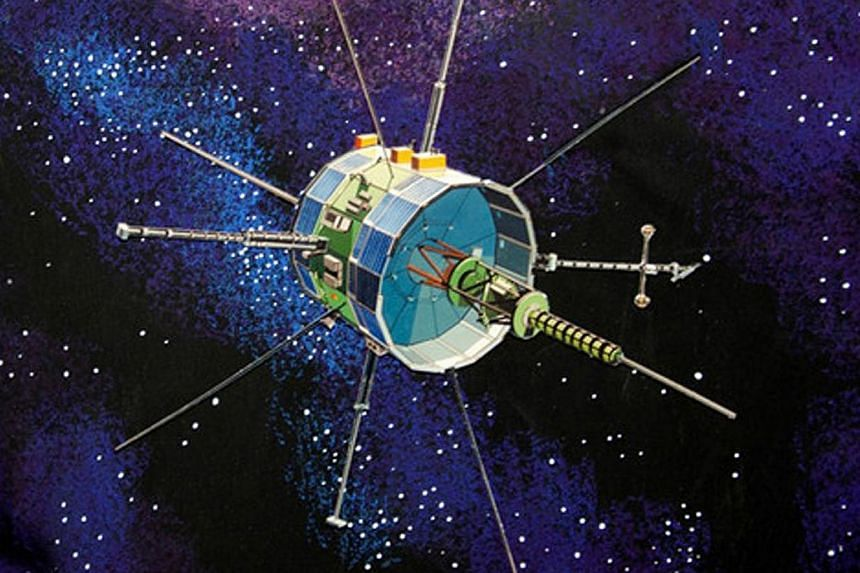 The International Sun-Earth Explorer, or ISEE-3, was built in 1978 to study the physics of solar winds. -- PHOTO: AFP