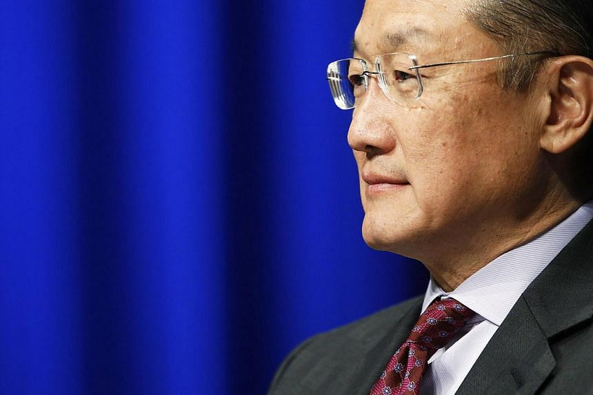 World Bank Group President Jim Yong Kim participates in an event at the World Bank in Washington on May 14, 2014.The World Bank on Thursday approved nearly US$1.5 billion (S$1.9 billion) in financing for three projectsin Ukraine to help t
