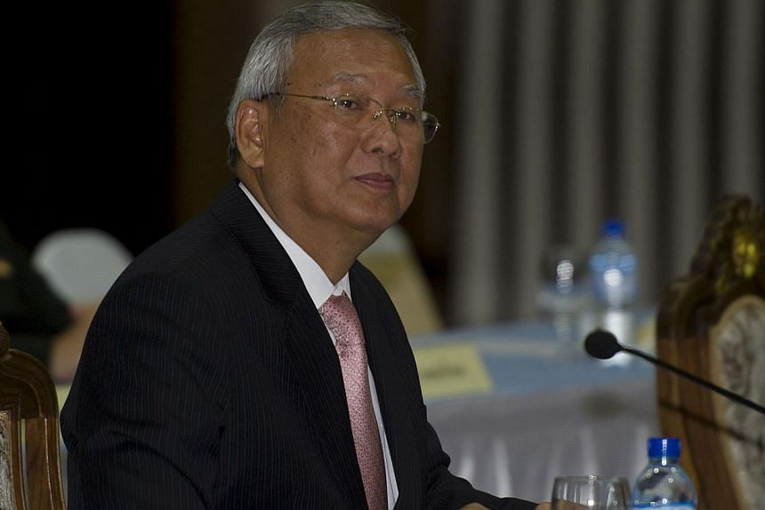 Thailand's deposed Prime Minister Niwattumrong Boonsongpaisan reported to the kingdom's new military junta on Friday after he was summoned in the wake of a coup.-- PHOTO: AFP