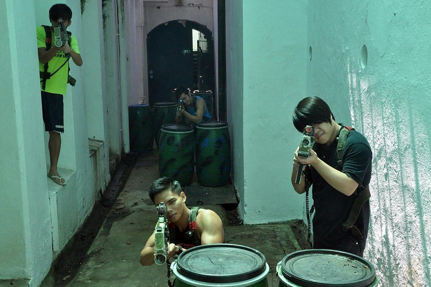Have a laser tag party in a 100m-long tunnel in Sentosa. --PHOTO: COMBAT SKIRMISH LIVE