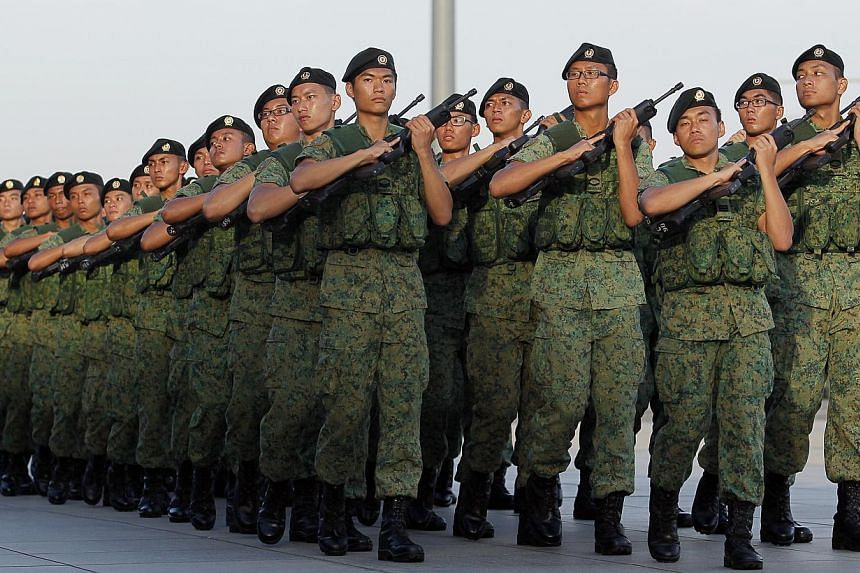 New citizens, first-generation PRs and women will soon be able to serve alongside national servicemen. -- ST FILE PHOTO