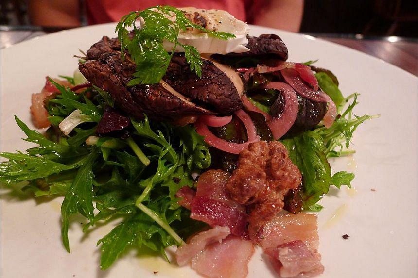 Grilled Portobello Salad. -- PHOTO: WONG AH YOKE