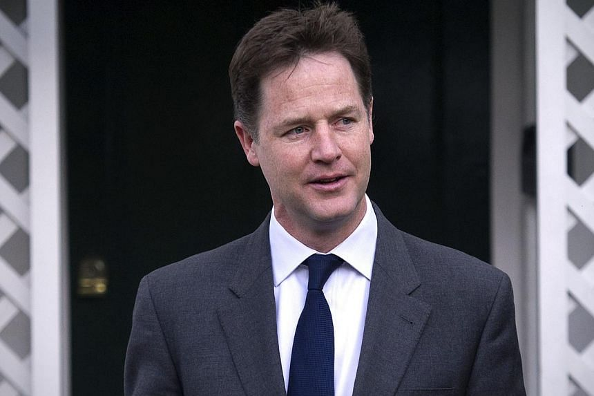 "The letter calling on Mr Clegg to quit credits him with taking the Liberals into government for the first time in almost 80 years, but said the electorate had delivered a ""stark message"" about the party's direction. - PHOTO: AFP"