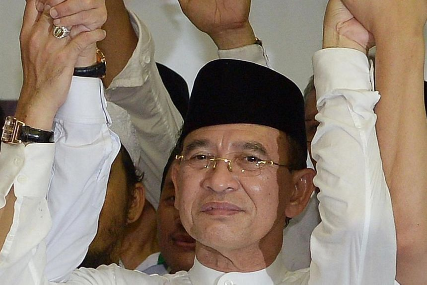 Suryadharma Ali, Indonesian Religious Affairs Minister also the head of United Development Party (PPP) attending a ceremony in Jakarta on May 20, 2014.Indonesia's religious affairs minister resigned on Monday, May 26, 2014, after being accused