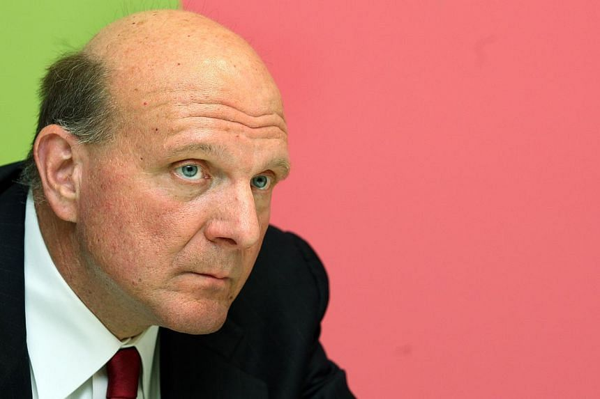 Mr Steve Ballmer, chief executive of Microsoft. The wife of disgraced Los Angeles Clippers owner Donald Sterling reportedly met Mr Ballmer on Sunday about selling the club. -- FILE PHOTO: ST