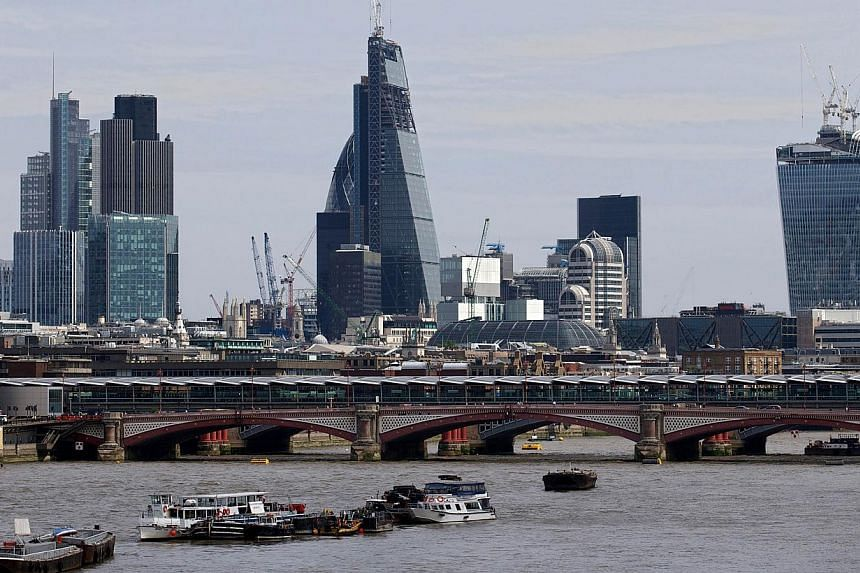 A general view of the London city skyline. -- PHOTO: AFP