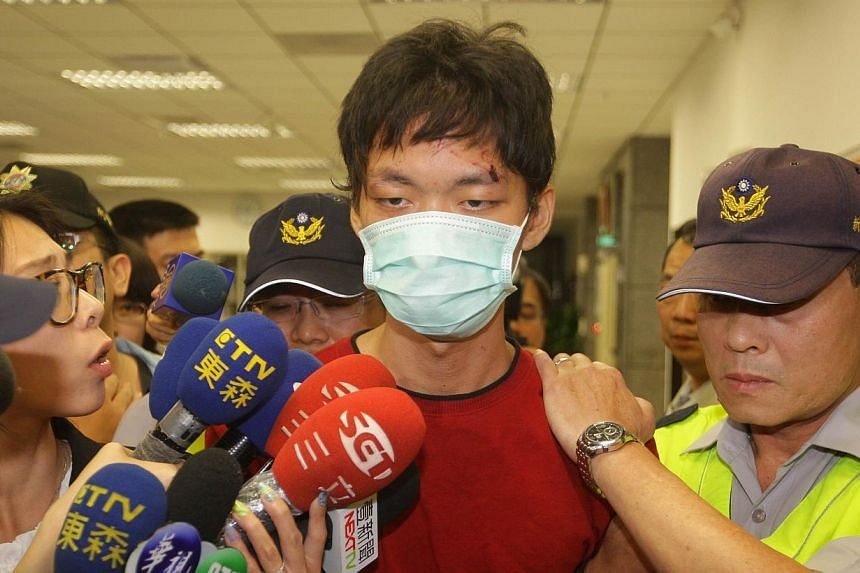 The mother and father of 21-year-old Cheng Chieh (above), who killed four people in a stabbing spree in Taipei, apologised to victims' families on May 27, 2014, and asked their son to be executed as soon as possible. -- PHOTO: AFP