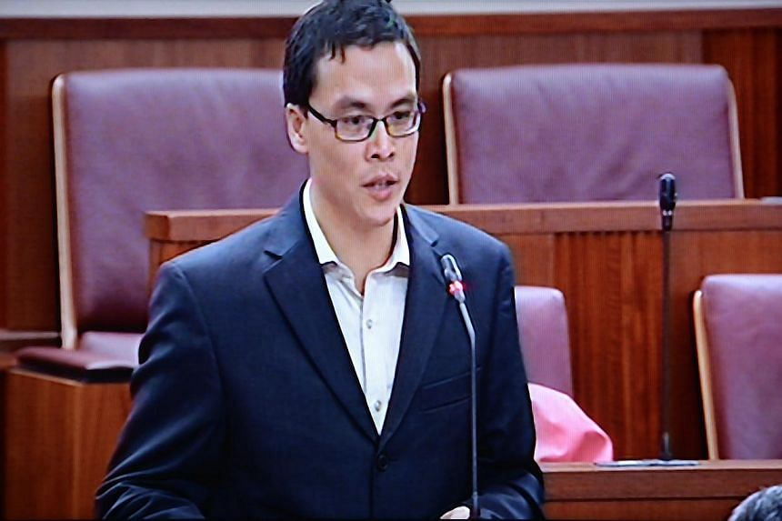 Mr Laurence Lien, chief executive of the National Volunteer and Philanthropy Centre and Nominated Member of Parliament (NMP), speaking during a parliament session on 7 February 2013. Singapore should encourage citizens to contribute more to soci