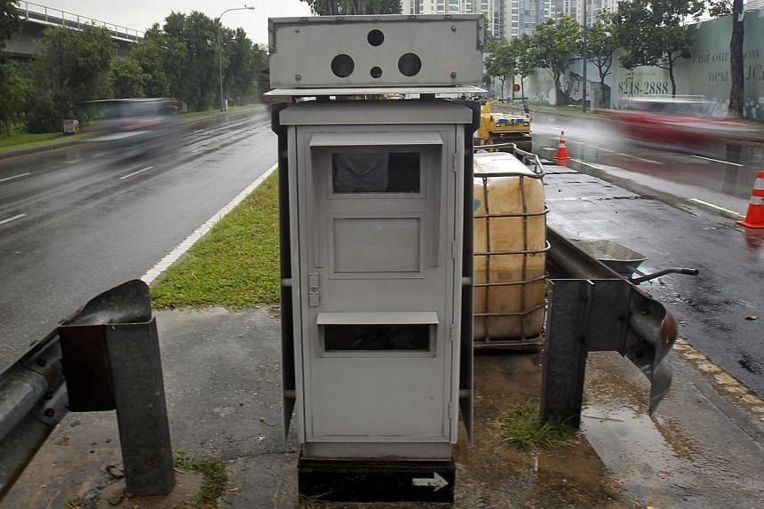 "A speed camera along Boon Lay Way. The police said the study ""will help to provide information such as optimal allocation of cameras... and where to place the speed cameras for effective deterrence""."
