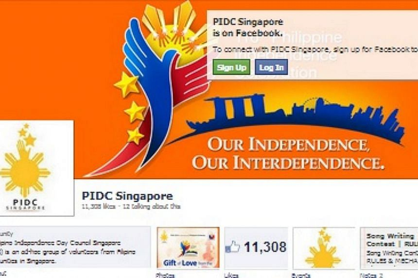 Organisers of a planned Philippine Independence Day celebration in Singapore have decided to cancel the event altogether, owing to difficulties in getting alternative locations for the event. -- PHOTO: SCREENGRAB FROM FACEBOOK