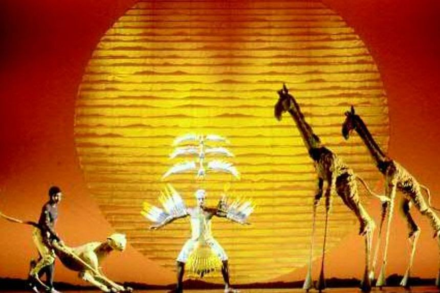 A photo of the musical The Lion King, which is among the most popular productions on Broadway. New musicals, original plays, revivals and star performers boosted Broadway's grosses this season more than 11 per cent and pushed attendance up 5.6 per ce