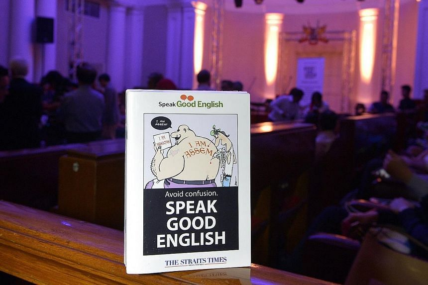 The Speak Good English Movement is trying to dispel the notion that grammar rules are boring with a series of humorous videos. -- ST PHOTO: DESMOND WEE