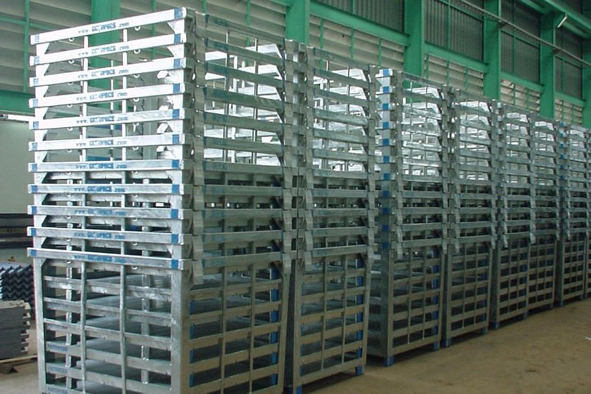 Goodpack specialises in leasing intermediate bulk containers or steel containers with collapsible walls to save storage space. -- PHOTO: GOODPACK