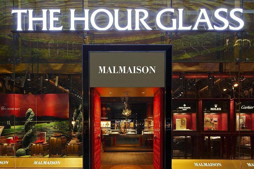A Malmaison by The Hour Glass store at Knightsbridge, Orchard Road.The Hour Glass has clocked up a 4 per cent rise in net earnings to $54.9 million.-- PHOTO: THE BUSINESS TIMES FILE