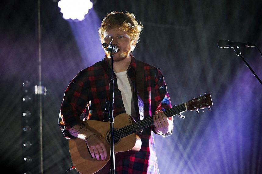 Singer Ed Sheeran performs at the 2014 Wango Tango concert at StubHub Center in Carson, California on May 10, 2014. -- PHOTO: REUTERS