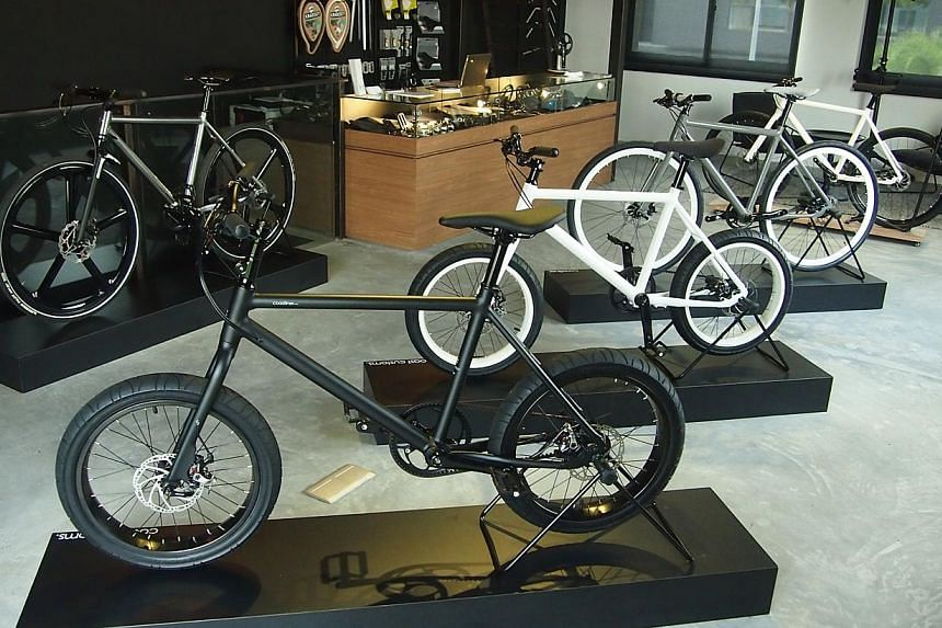 Bicycle-themed cafe Coast And Company lets you eat and shop for cycling gear.