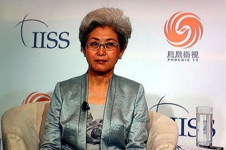 Ms Fu Ying, chairman of the Chinese Parliament's Foreign Affairs Committee, speaking in a debate on Friday, May 30, 2014, on the sidelines of the Shangri-La Dialogue, a forum that brings together defence and security experts and officials from Asia