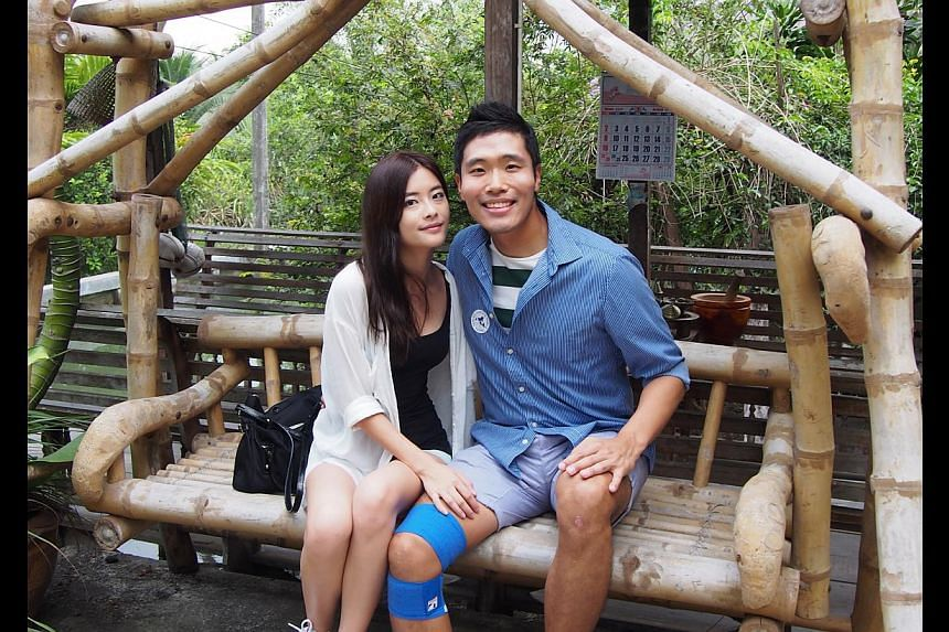 Mr Shin Ryunjae was drawn to Singaporean Sim Pei Ling initially because she could speak Korean fluently, and grew even more attracted to her after discovering her personality. -- PHOTO: COURTESY OF SIM PEI LING