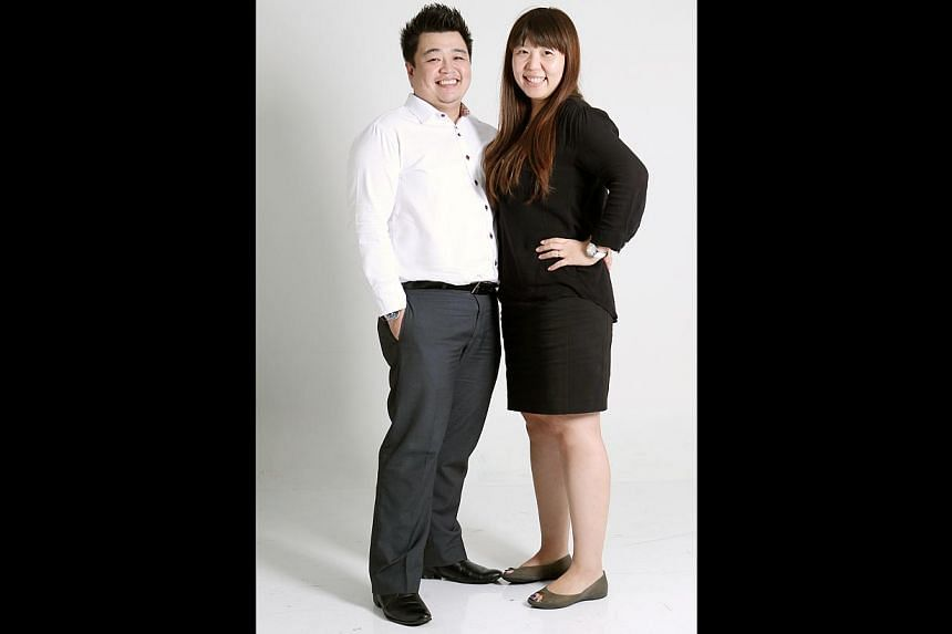 Mr Jason Chang and Ms Erin Seo. -- ST PHOTO: SEAH KWANG PENG