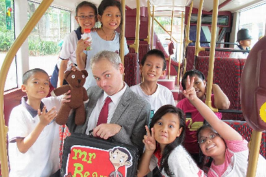 British High Commission staff Paul Broom becomes Mr Bean for a good cause: for kids attending the Magic Bus programme, a programme that uses sport and games to teach social and other skills. – PHOTO: COURTESY OF PAUL BROOM