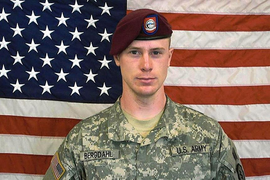 This US Army handout photo obtained June 1, 2014, shows Private First Class(Pfc) Bowe Bergdahl, before his capture by the Taliban in Afghanistan. -- PHOTO: AFP