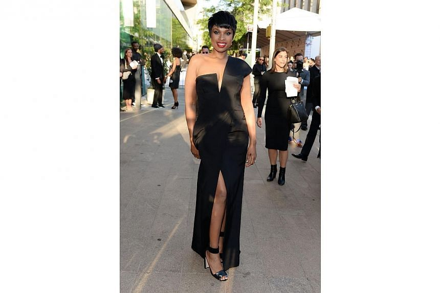 Musician Jennifer Hudson attends the 2014 CFDA fashion awards at Alice Tully Hall, Lincoln Center on June 2, 2014 in New York City. -- PHOTO: AFP