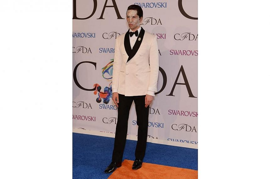 Di Mondo attends the 2014 CFDA fashion awards at Alice Tully Hall, Lincoln Center on June 2, 2014 in New York City. -- PHOTO: AFP