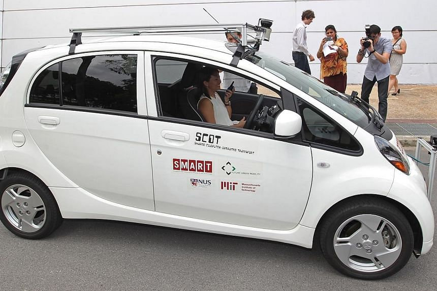 The Shared Computer Operated Transport (Scot) car, a driverless vehicle, was launched by the Singapore-MIT Alliance for Research and Technology and National University of Singapore on Jan 28, 2014.Driverless buses, taxis and cars can take you f