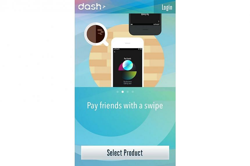 The service and smartphone app dubbed Dash is backed by SingTel and Standard Chartered Bank.-- PHOTO:SCREENGRAB FROM DASH APP