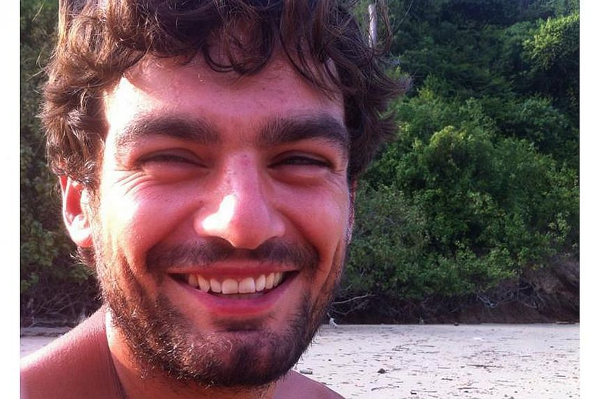 A recent undated handout picture released by the Find Gareth Huntley Campaign on May 31, 2014 shows British man Gareth Huntley who has been missing in Malaysia since going for a solo trek on May 27, 2014 pictured at an unknown location. -- PHOTO: AFP