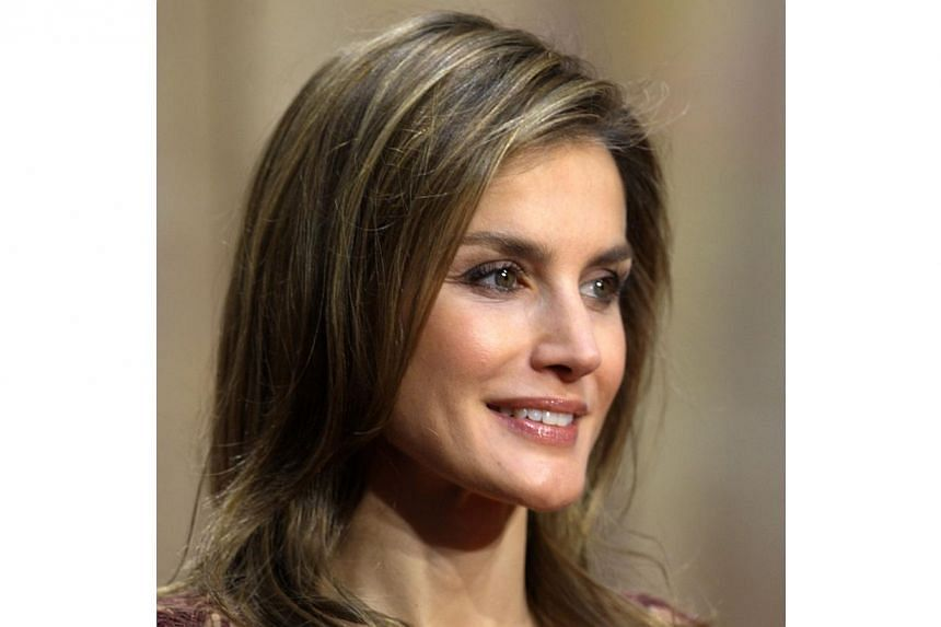 Spain's Princess Letizia looking on during an official audience to 2013 Prince of Asturias Awards laureates at the Reconquista Hotel of the northern Spanish city of Oviedo on Oct 25, 2013. -- PHOTO: AFP