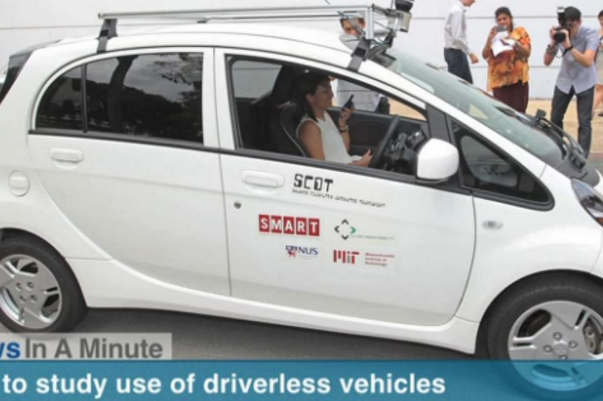 In today's The Straits Times News In A Minute video, we look at how the LTA will study the use of driverless vehicles as a viable mode of transport, other issues. -- PHOTO: SCREENGRAB FROM VIDEO
