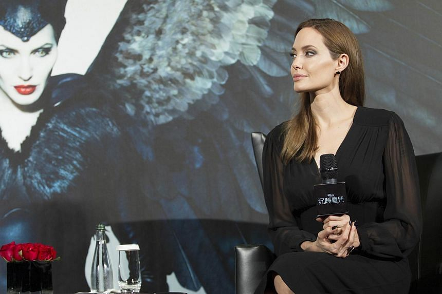 This handout photo released by the Walt Disney Company shows US actress Angelina Jolie attending a press conference in Shanghai on June 3, 2014. Jolie said on Tuesday she was thrilled her latest film Maleficent, a modern retelling of the life of Slee